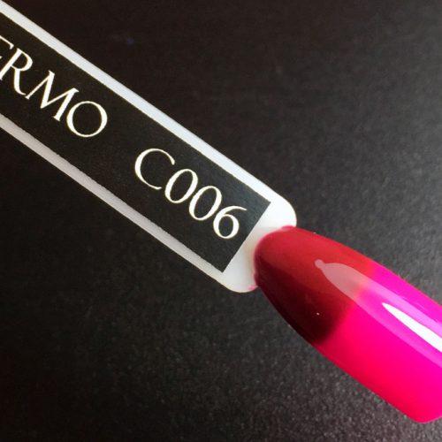 Гель-лак Komilfo DeLuxe Termo №C006 (темно-вишневый, при нагревании — ярко-розовый), 8 мл