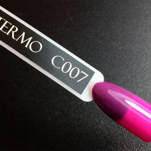 Гель-лак Komilfo DeLuxe Termo №C007 (баклажановый, при нагревании — приглушенный, темно-розовый), 8 мл