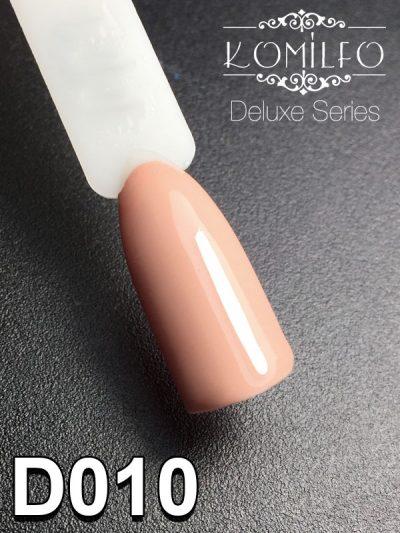 Гель-лак Komilfo Deluxe Series №D010 (светло-бежевый, эмаль), 8 мл
