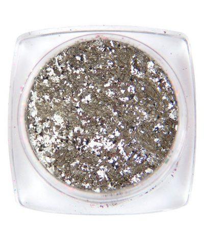 Komilfo хлопья «Юки» №010 (размер XL, серебро) 1 г