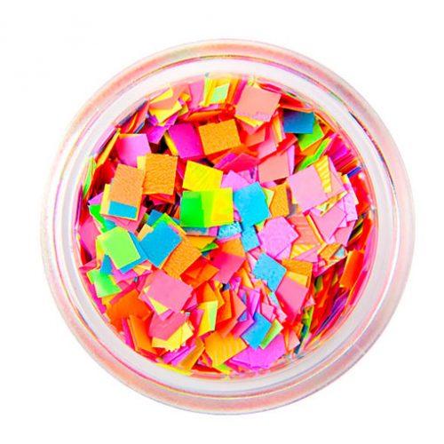 Komilfo квадратики MIX разноцветный 3 мм (1,5 г)