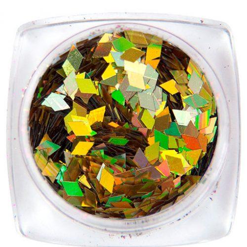 Komilfo ромбы 2 мм (золото голограмма) 1,5 г