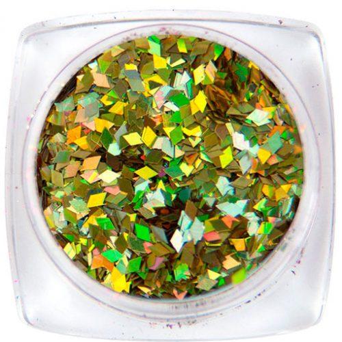 Komilfo ромбы 1 мм (золото голограмма) 1,5 г