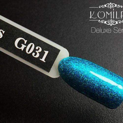 Гель-лак Komilfo DeLuxe Series №G031 (бирюзовый, микроблеск), 8 мл