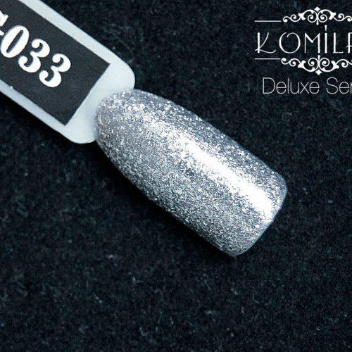 Гель-лак Komilfo DeLuxe Series №G033 (серебристый, микроблеск), 8 мл