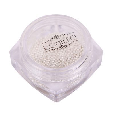 Komilfo бульонки (металлические) серебро, 1 мм