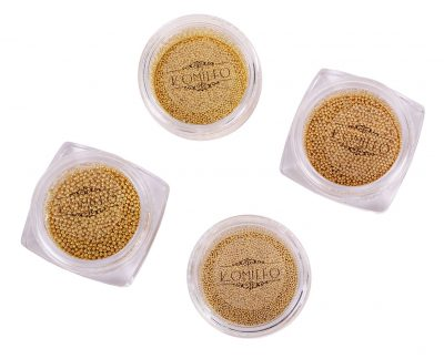 Komilfo бульонки (металлические) золото, 1 мм