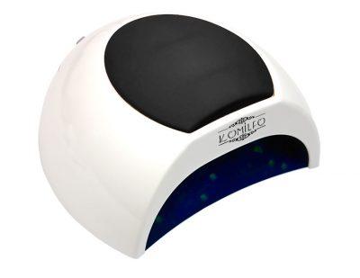 Универсальная UV LED лампа Komilfo Sun 2 48 Вт, белая с черной подушкой