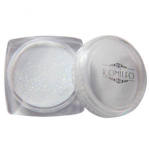 Акриловая пудра Komilfo 003 White Glitter, 3 г