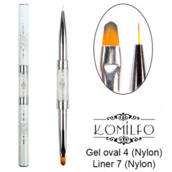 Кисть Komilfo Double Gel oval 4 (Nylon)/Liner 7 (Nylon)
