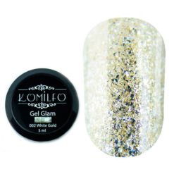 Komilfo Glam Gel White Gold №002, 5 мл