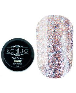 Komilfo Glam Gel Bronze №004, 5 мл