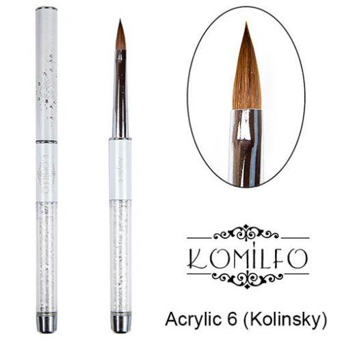 Кисть Komilfo Acrylic 6 (Kolinsky)