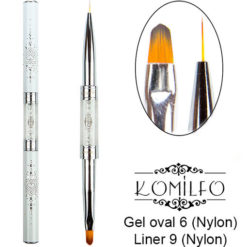 Кисть Komilfo Double Gel oval 6 (Nylon)/Liner 9 (Nylon)