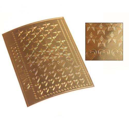 Komilfo G00001 — металлизированные наклейки для ногтей, золото