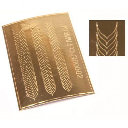 Komilfo G00002 — металлизированные наклейки для ногтей, золото