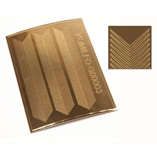 Komilfo G00003 — металлизированные наклейки для ногтей, золото