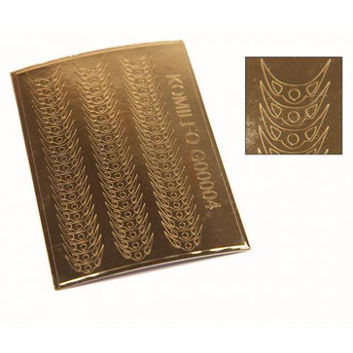 Komilfo G00004 — металлизированные наклейки для ногтей, золото