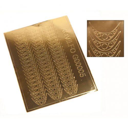 Komilfo G00005 — металлизированные наклейки для ногтей, золото