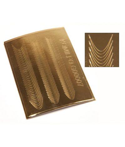 Komilfo G00007 — металлизированные наклейки для ногтей, золото