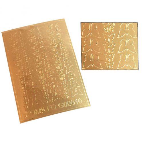 Komilfo G00010 — металлизированные наклейки для ногтей, золото