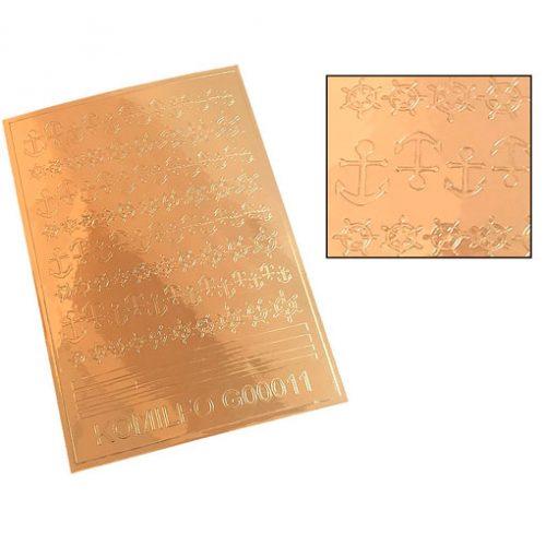 Komilfo G00011 — металлизированные наклейки для ногтей, золото
