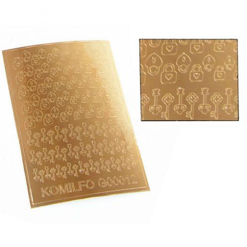 Komilfo G00012 — металлизированные наклейки для ногтей, золото