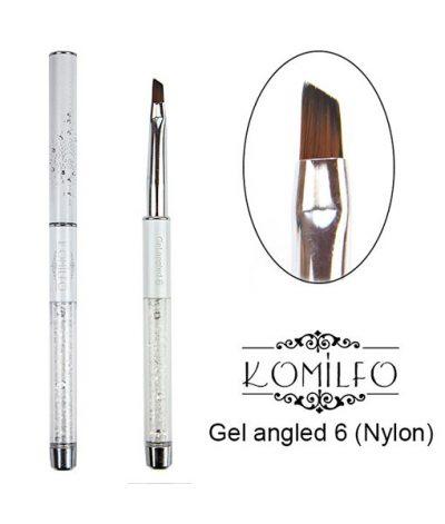 Кисть Komilfo Gel angled 6 (Nylon)