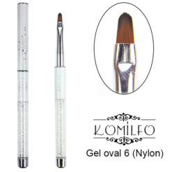 Кисть Komilfo Gel oval 6 (Nylon)