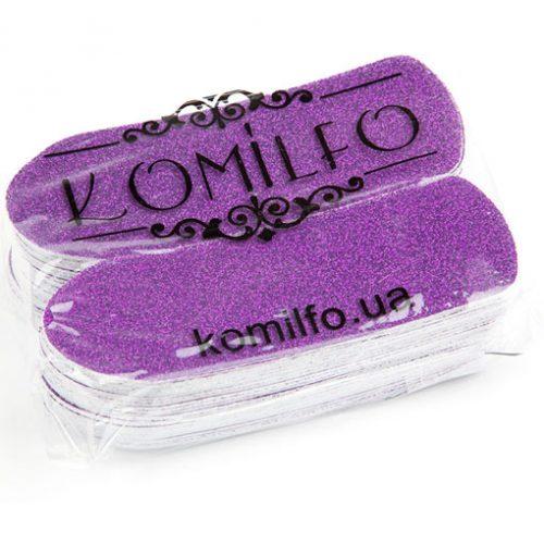 Komilfo сменные одноразовые абразивы 50 шт. для педикюрной терки, 80 грит (фиолетовые)