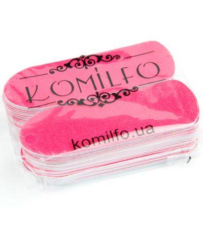 Komilfo сменные одноразовые абразивы 50 шт. для педикюрной терки, 180 грит (розовые)
