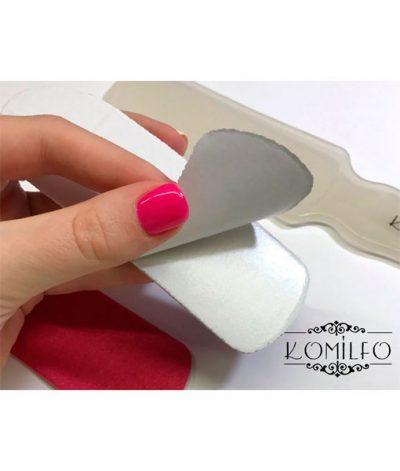 Komilfo сменный одноразовый абразив 1 шт. для педикюрной терки, 180 грит (розовый)
