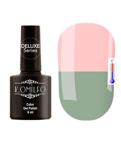 Гель-лак Komilfo DeLuxe Termo №C002 (бледный, серо-зеленый, при нагревании — розовый), 8 мл