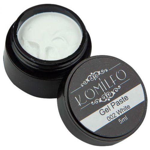 Гель-паста Komilfo №002 White, 5 мл