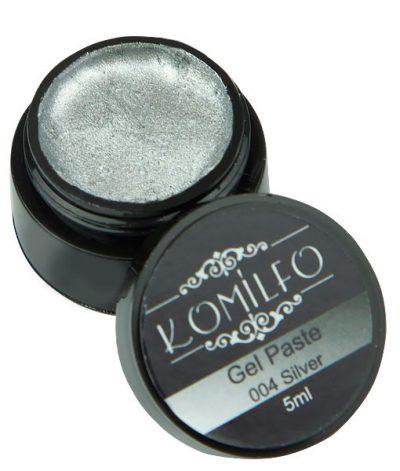 Гель-паста Komilfo №004 Silver, 5 мл