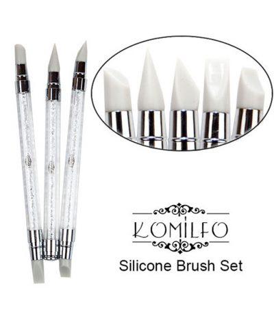Набор силиконовых кистей Komilfo Silicone Brush Set, 3 шт
