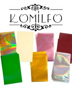 Komilfo фольга для литья, кракелюра, дизайнов