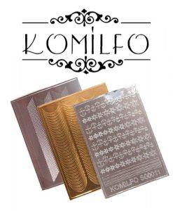Металлизированные наклейки Komilfo