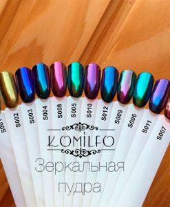 Komilfo зеркальная пудра для ногтей - Chrome Mirror Powder Nails