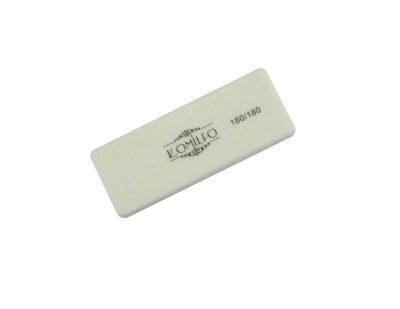 Шлифовщик Komilfo мини белый 180/180, 8,5 см