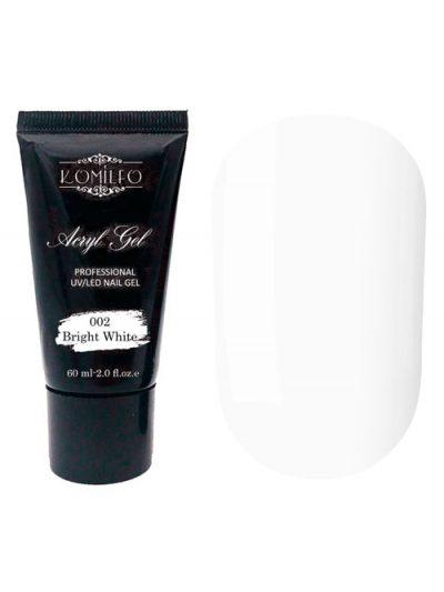 Komilfo Acryl Gel №002 Bright White, 60 г