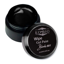 Гель-краска Komilfo Wipe Gel Paint for French Black 001, 5 мл