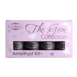 Набір Komilfo The Gem Collection Amethyst Kit (purple), №001, 002, 003, 004