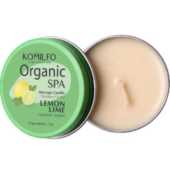 Komilfo Massage Candle – Lemon Lime, 60 g